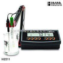 意大利哈纳HANNA HI2211 实验室pH/温度测定仪