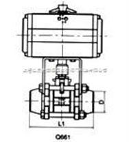 SMQ661F氣動三片式焊接球閥