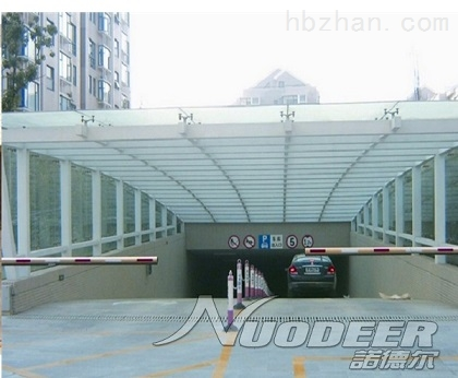 小区 地下出入口遮阳棚,车库阳光板雨棚,价格实惠