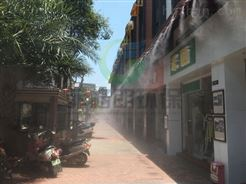 湘潭商业中心喷雾降温设备价格/户外场所喷雾降温系统工程安装