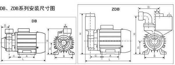 db离心式清水泵,zdb型自吸泵