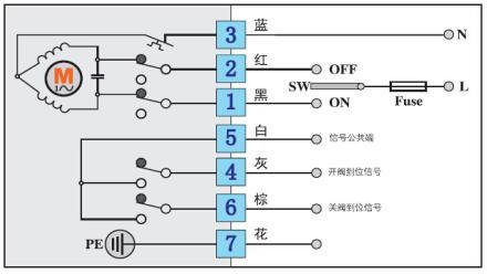 ac220v ac110v 电动阀接线图  反馈图片
